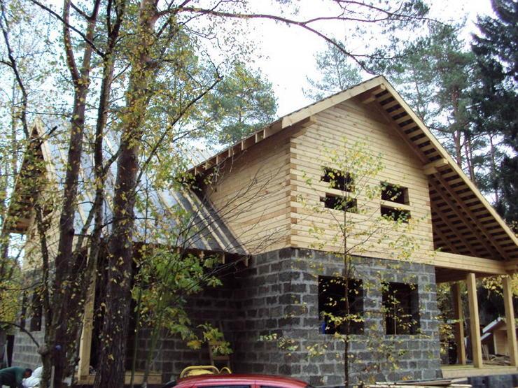 Строительство комбинированного дома