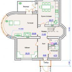 Проект компактного дома 1 этаж