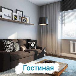 Ремонт гостиной в однокомнатной квартире