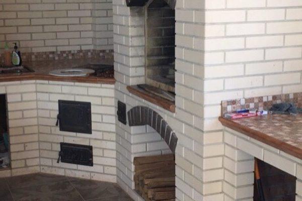 Строительство дома в с. Медовка — фото 5 (зона барбекю)
