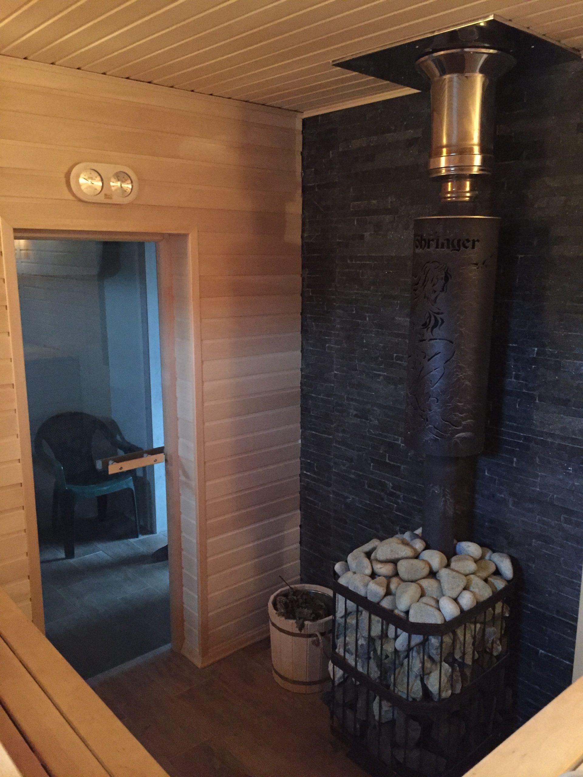 Строительство бани в Рамони — фото 4 (печь)