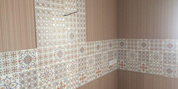 Ремонт квартиры по ул. Владимира Невского — отделка стен на кухне